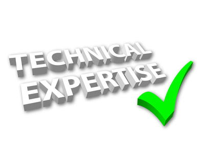 """""""Technical Expertise"""" with Green Tick"""