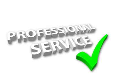 """""""Professional Service"""" with Green Tick"""